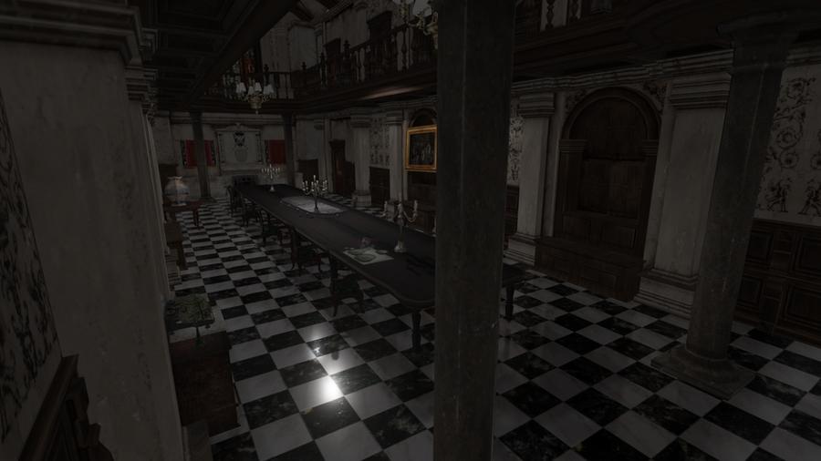 Dining Hall Resident Evil 1 Remake