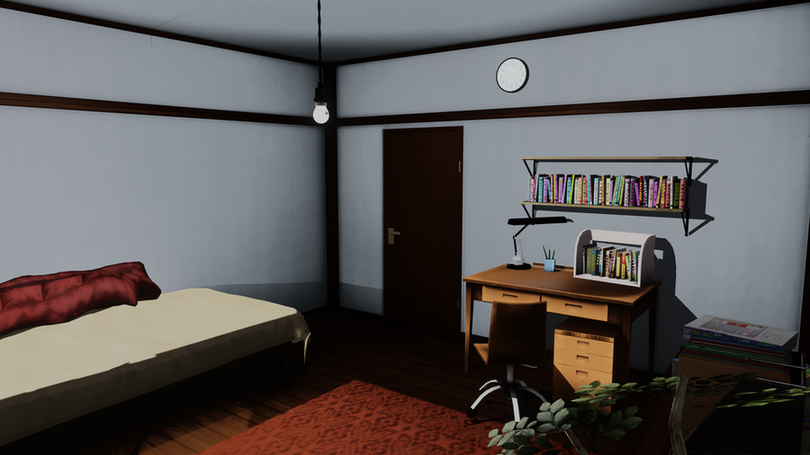 Toon shaded boy's room