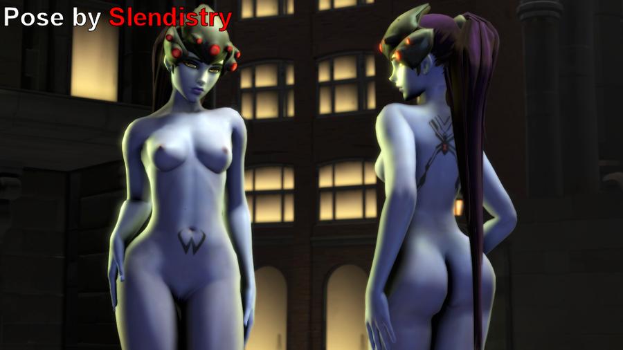 Widowbutt (Nude Widowmaker) - Overwatch
