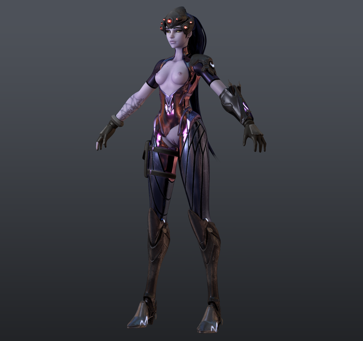 [Overwatch] Widowmaker for Cinema 4d r19