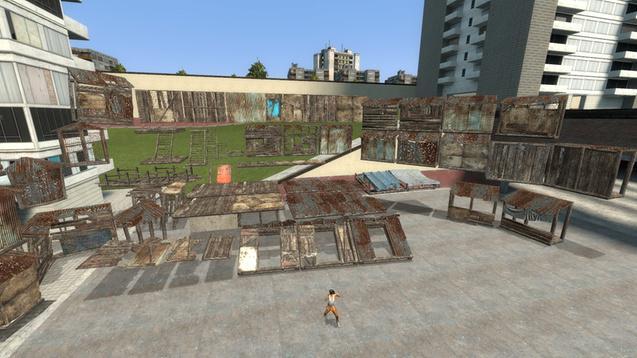 Wooden Settlement Scene Build Kit for SFM [Fallout 4]