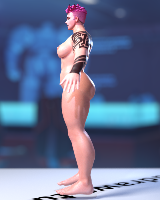 Nude Zarya Rigged (Pitchipoy) for Blender