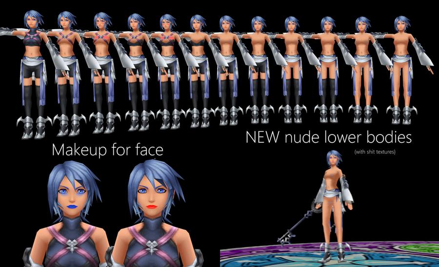 Nude Aqua Texture Pack (Kingdom Hearts Birth By Sleep)