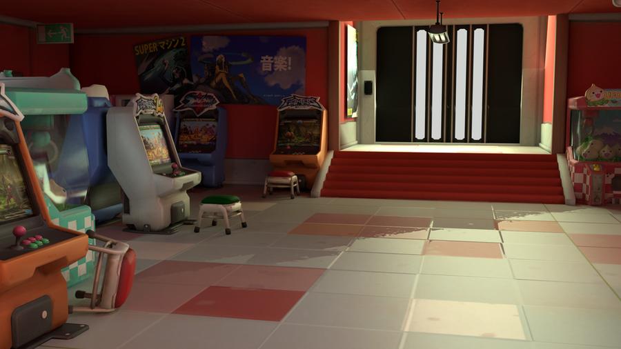 Overwatch Hanamura Arcade for Blender 2.79