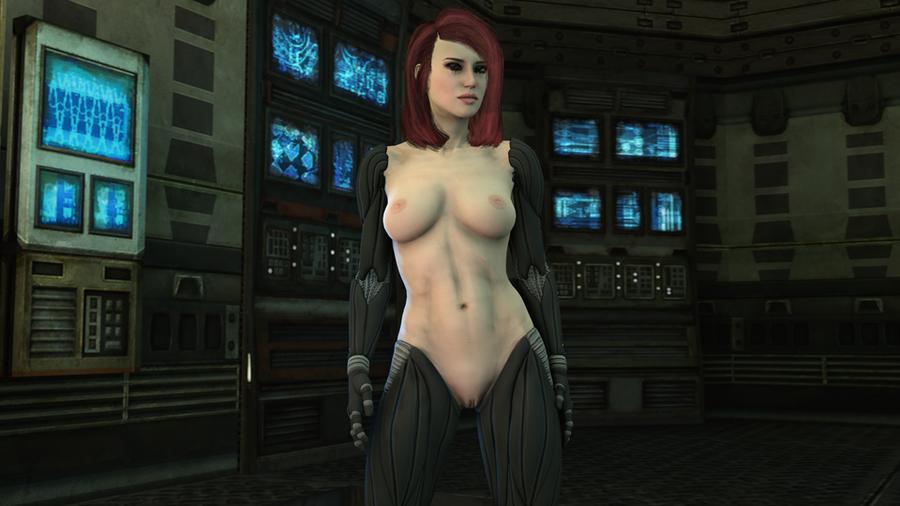 Deus Ex: Nude Female with Augmentations