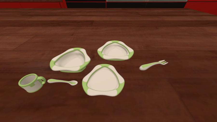 Baby plates,spoon,fork and cup