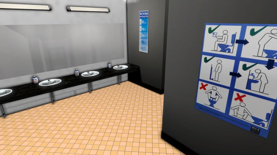 [Scenery] Mildly Poseable Public Bathroom