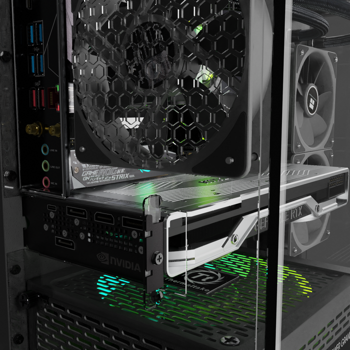 Mini ITX PC Honeycomb. In A Shortened Thermaltake P3 Housing.