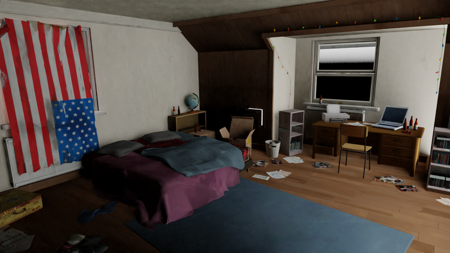 [Life is Strange] Chloe and Max's Rooms (Blender)