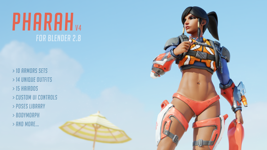 [Overwatch] Pharah v4 for Blender 2.80