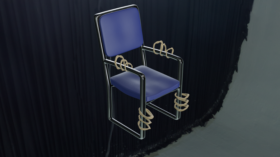 Pole restraint and Bondage Office Chair