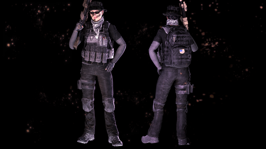 "Tom Clancy's Ghost Recon: Wildlands - Nomad ""Sparky"" Female Player Character (Custom)"