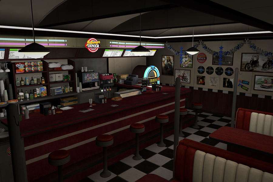 Dead or Alive: Johnny's Diner (Mila's Workplace)