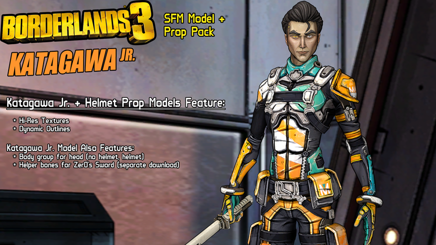 Borderlands 3: Katagawa Jr. (Model + Prop Pack)
