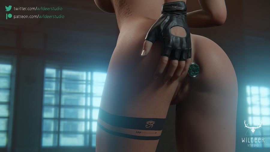 Lara's butt plug