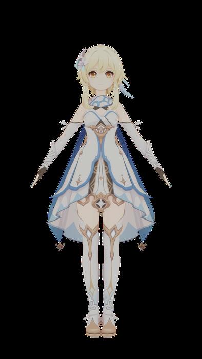 Lumine (Female Traveler) Remake [Genshin Impact]