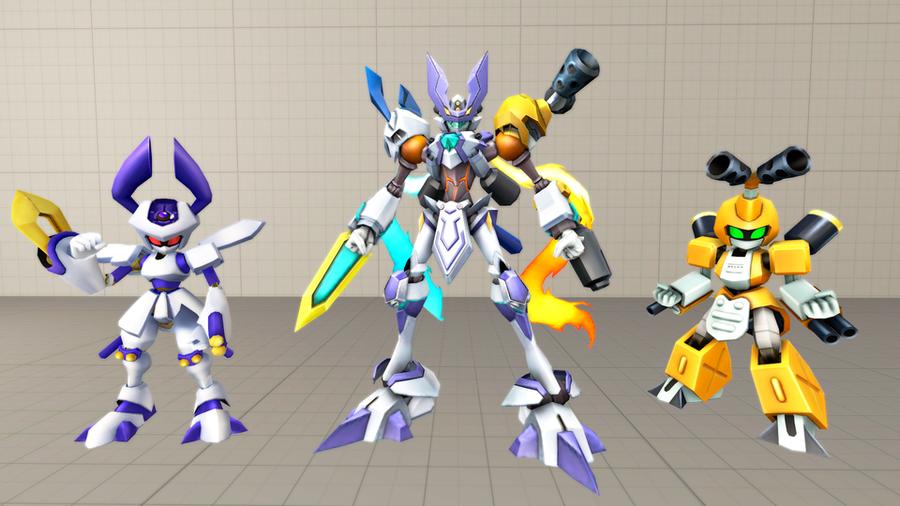 Digimon - Omedamon (+Metabee & Rokusho)