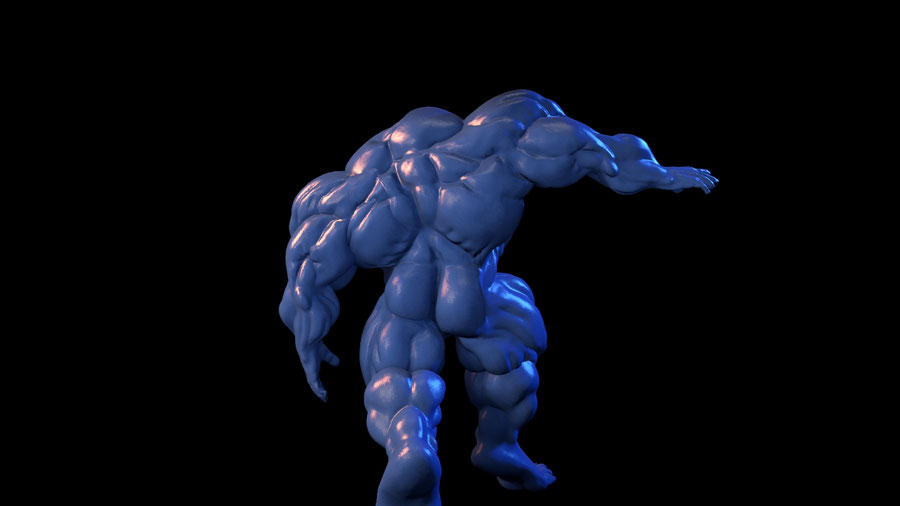 A colorable headless muscle body