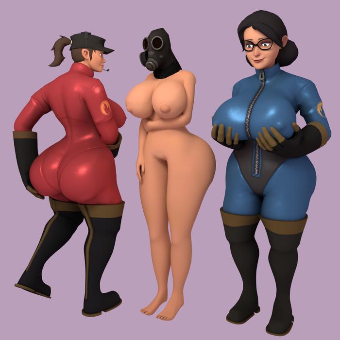 Femme Pyro Head Pack