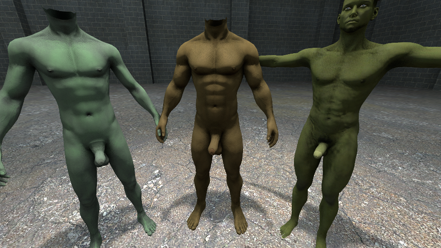 Rigs + 'Orcish' Textures [for Fit Male Talent & Ultimate Male Body Redux]