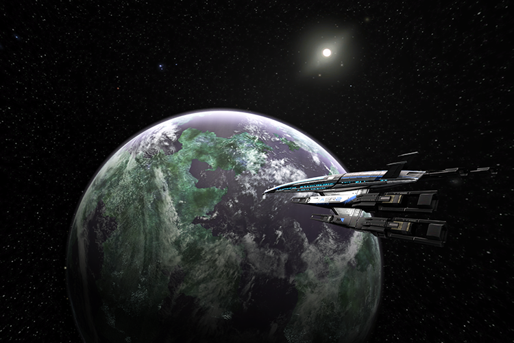 Thessia Space Skybox