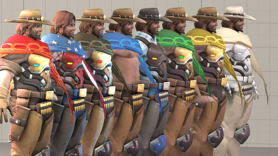 [Overwatch] McCree skin pack1