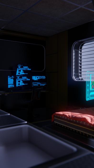 Mid level sci-fi  room