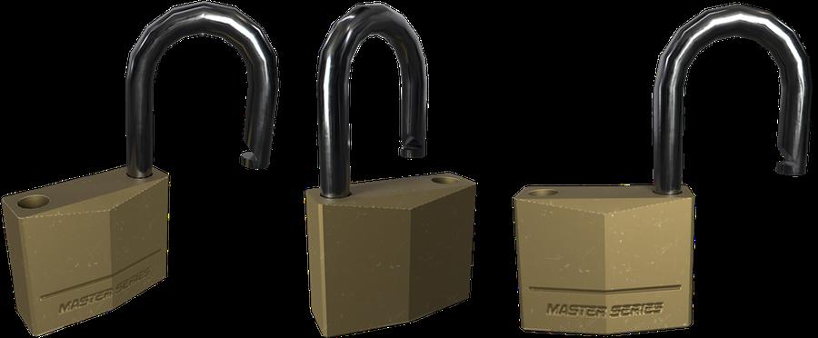 Set of padlocks + Key