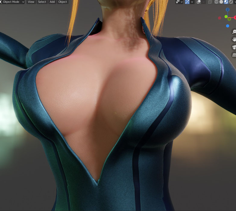 ZSuit S4mus for Blender 2.9, rigged and with a bunch of outfit configs, Eevee / Cycles.