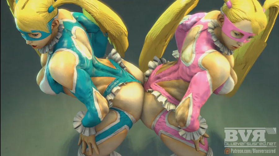 Rainbow Mika - Street Fighter V - Player 2 Colour