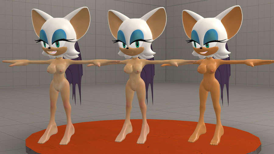 Rouge The Bat (Nude/Classic/Dress/Riders)