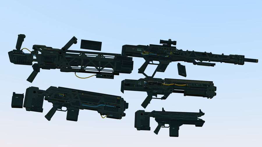 XCOM and Aliens Weapons Models V2 (XCOM 2)