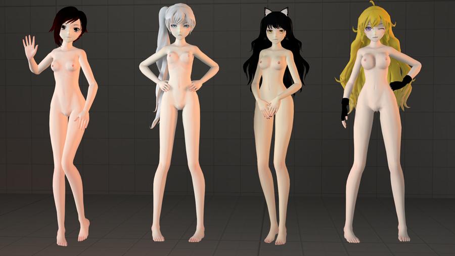RWBY team - (Ruby, Weiss, Blake and Yang)