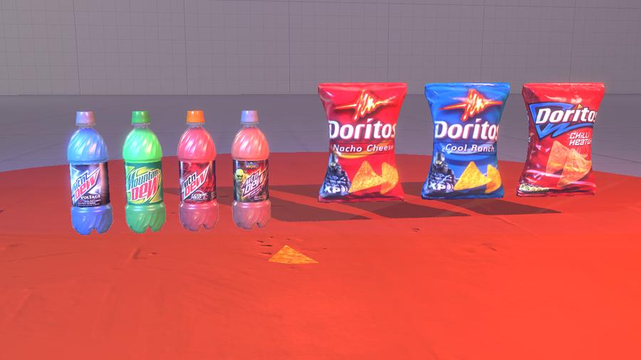 Mountain Dew and Doritos
