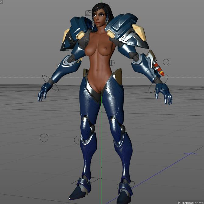 [Overwatch] Pharah for Cinema 4d r16