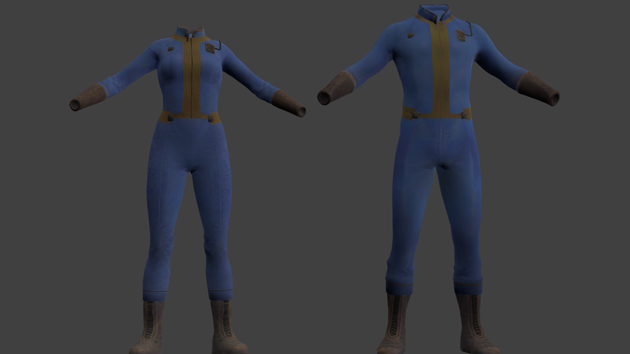Vaultsuits Male and Female (Fallout)