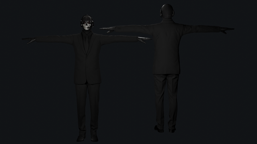 Ghost in suit