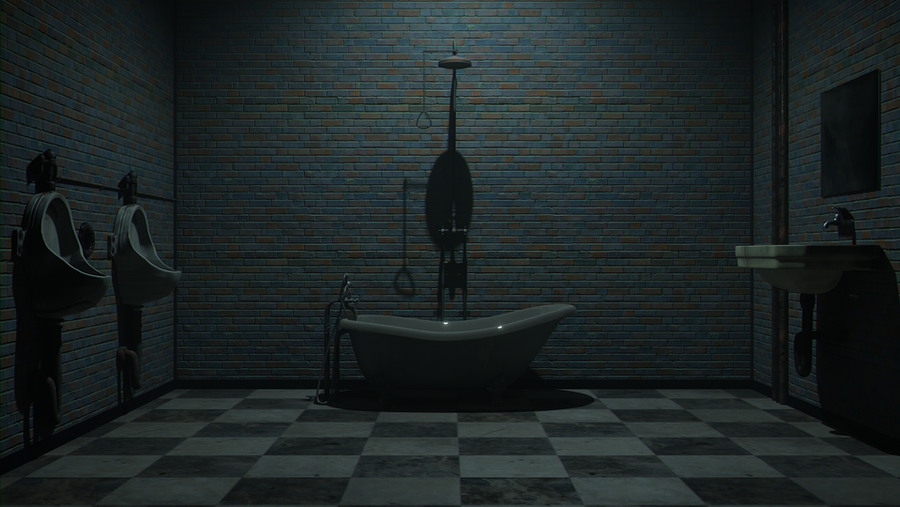 Dark bathroom
