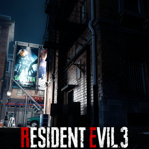 Thumbnail image for Raccoon City Alleyway Scenebuild (v.01)