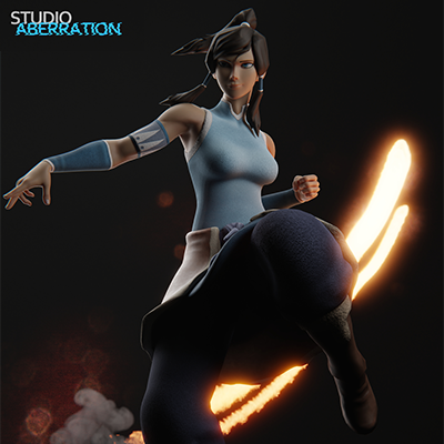 Thumbnail image for Korra for Blender 2.8 (by StudioAberration)