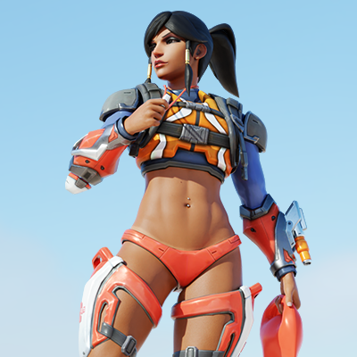 Thumbnail image for [Overwatch] Pharah v4 for Blender 2.80