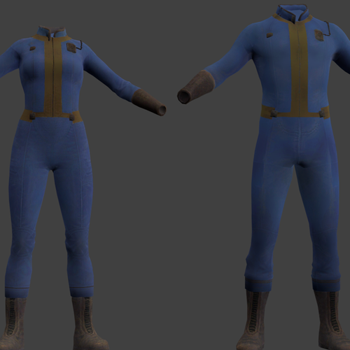 Thumbnail image for Vaultsuits Male and Female (Fallout)