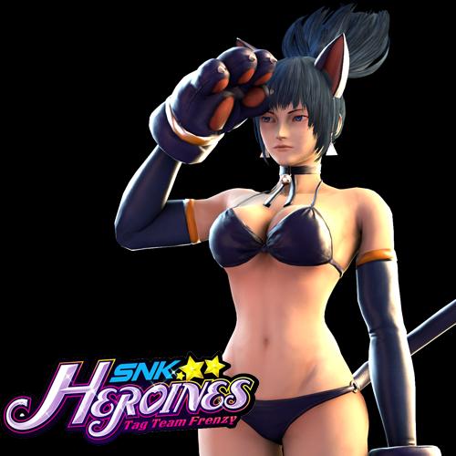 Thumbnail image for Leona Heidern Cat - SNK Heroines