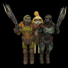 DoomGuy and Doomgirl