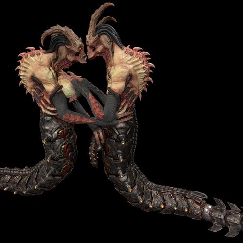 Thumbnail image for Female and male Whiplash (DOOM eternal)
