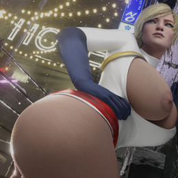 POWER GIRL CUSTOM MODEL BLENDER EEVEE